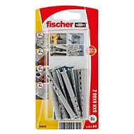 Fischer Frame fixing (Dia)6mm (L)60mm, Pack of 8