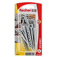 Fischer Frame fixing (Dia)8mm (L)60mm, Pack of 6