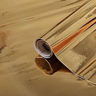 D-C-Fix Gloss Gold effect Self-adhesive film (L)1.5m (W)450mm