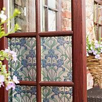 D-C-Fix Minster Floral Blue Self-adhesive film (L)2m (W)450mm
