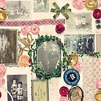 D-C-Fix Bellville collage Vintage Multicolour Self-adhesive film (L)2m (W)450mm