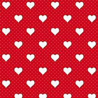 D-C-Fix Heart Red Self-adhesive film (L)2m (W)450mm