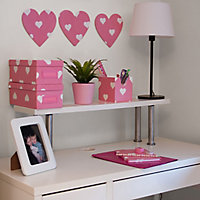 D-C-Fix Heart Pink Self-adhesive film (L)2m (W)450mm
