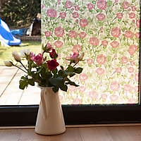 D-C-Fix Jerada Floral Pink Self-adhesive film (L)2m (W)450mm