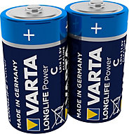 Varta Longlife Power Non rechargeable C (LR14) Battery, Pack of 2