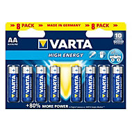 Varta Longlife Power AA Alkaline Battery, Pack of 8