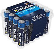 Varta Longlife Power AAA Alkaline Battery, Pack of 24