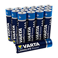 Varta Longlife power Non rechargeable AAA Alkaline Battery, Pack of 16