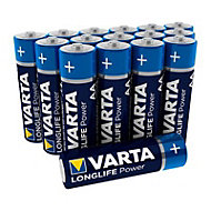 Varta Longlife power Non rechargeable AA Alkaline Battery, Pack of 16