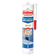 UniBond Anti Mould Speed White Kitchen & Bathroom Sealant 300 ml