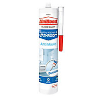 UniBond Anti Mould White Kitchen & Bathroom Sealant 300 ml