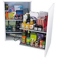Kesseböhmer Corner cabinet Soft close fixings included LH Pull out storage, (H)525mm (W)971mm