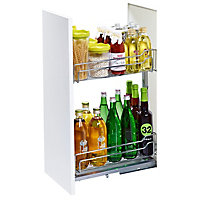 Kesseböhmer Base cabinet Soft close fixings included Pull out storage, (H)582mm (W)250mm