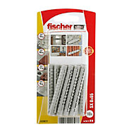Fischer Nylon Wall plug (L)65mm (Dia)8mm, Pack of 10