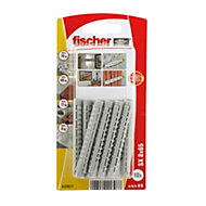Fischer Nylon Solid wall plug, Pack of 10