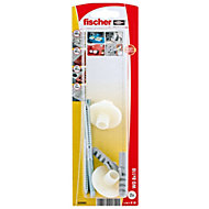 Fischer Washbasin fixing caps (L)110 mm, Pack of 2