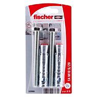 Fischer Electro zinc plated steel Sleeve anchor, Pack of 2