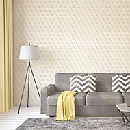 A.S. Creation Bjorn Yellow Geometric triangles Embossed Wallpaper