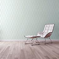 A.S. Creation Bjorn Blue & cream Geometric Embossed Wallpaper