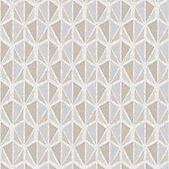 A.S. Creation Bjorn Beige, brown & grey Geometric Embossed Wallpaper