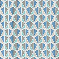 A.S. Creation Pop colours Multicolour Geometric diamond Embossed Wallpaper