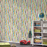 A.S. Creation Pop colours Multicolour Metallic effect Embossed Wallpaper