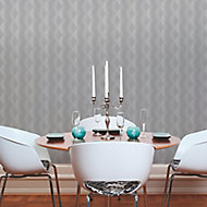 A.S. Creation Life 4 Grey & white Embossed Wallpaper
