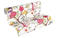 A.S. Creation Multicolour Floral Embossed Wallpaper