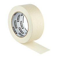 Scotch Beige Masking tape (L)50m (W)48mm, Pack of 2