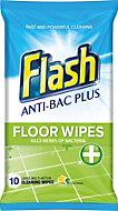 Flash Floor Wipes, pack of 10