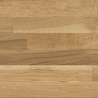 40mm Hinita Natural Solid oak Square edge Kitchen Worktop, (L)3000mm