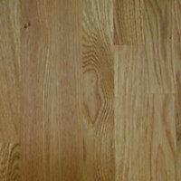 40mm Solid oak Square edge Kitchen Worktop, (L)3000mm
