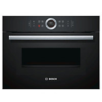 Bosch CMG633BB1B Built-in Black Compact Oven with microwave