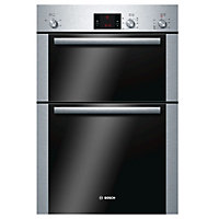 Bosch HBM13B252B Brushed steel Built-in Electric Double Conventional Oven