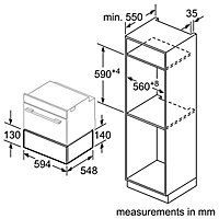 Bosch BIC630NB1B Black Warming drawer
