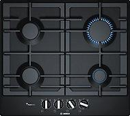 Bosch PCP6A6B90 4 Burner Black Stainless steel Gas Hob
