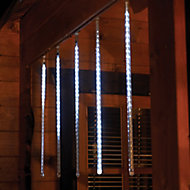 450 White LED Digital snow Icicle light Clear cable