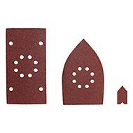 Ryobi Mixed Grit Multi sanding sheet (L)110mm (W)110mm, Pack of 30