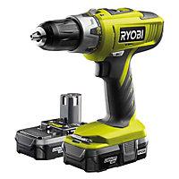 Ryobi One+ 18V 1.3Ah Li-ion Cordless Combi drill 2 batteries LLCDI18022L