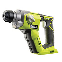 Ryobi One+ Cordless 18V Lithium-ion SDS plus drill Without batteries R18SDS-0