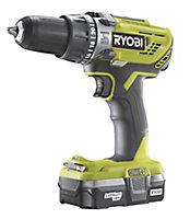 Ryobi ONE+ 18V 1.3Ah Li-ion Cordless Combi drill 1 battery R18PD3-113G