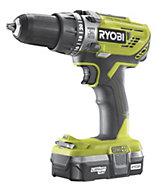 Ryobi One+ Cordless 18V 1.3Ah Li-ion Combi drill 1 battery R18PD3-113G