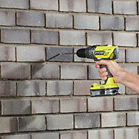 Ryobi ONE+ Cordless 1.3A 18V Brushed Percussion drill 2 batteries R18PD3-213S