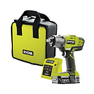 Ryobi ONE+ Cordless 18 2Ah ONE+ Brushed Impact Wrench 1 battery R18IW3-120S