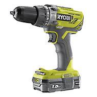 Ryobi ONE+ 18V 1.5Ah Cordless Percussion drill 1 battery R18PD3-115GK