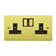 Holder 13A Brass effect Socket
