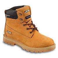 JCBProtectorHoneySafety boots, Size 8