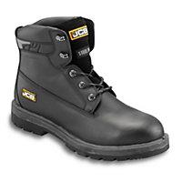 JCBProtectorBlackSafety boots, Size 9