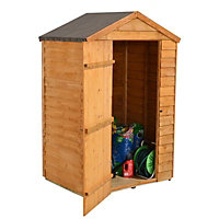 4x3 Larchlap Apex roof Overlap Wooden Shed With assembly service