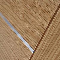 5 panel Flush Oak veneer Internal Door, (H)1981mm (W)610mm (T)35mm